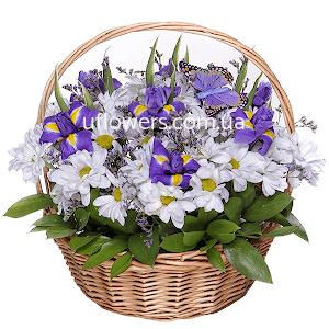 Корзина цветов Праздничное настроение