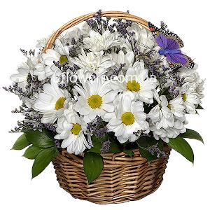 Корзина цветов Лучшие традиции